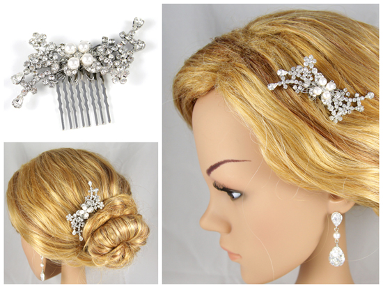 Wedding Silver Crystal Hair Comb