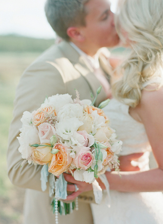 pink and peach bridal bouquet by Love This Day Events