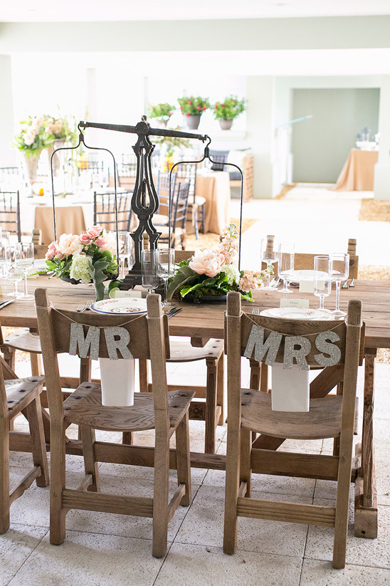 glitter Mrs and Mr chair signs