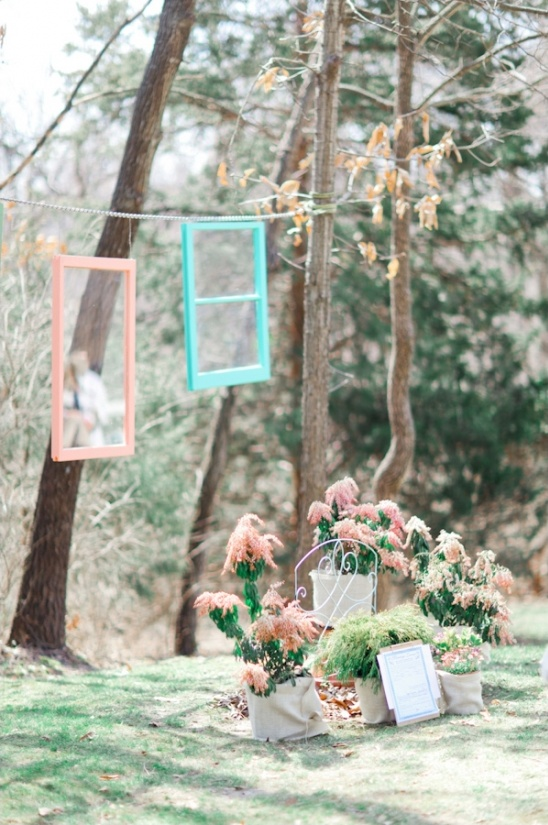 vintage window ceremony decor