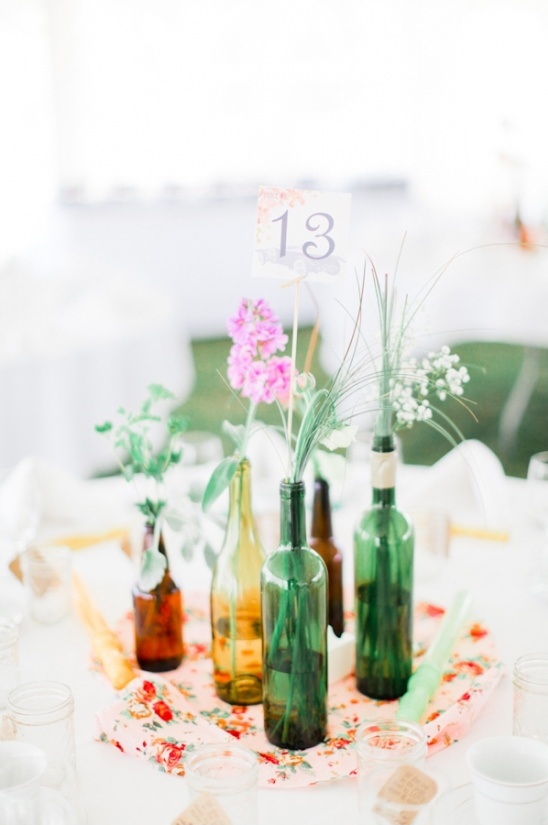 wine bottle table decor