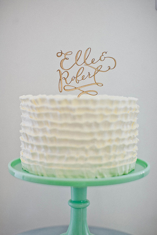 customized wooden cake topper