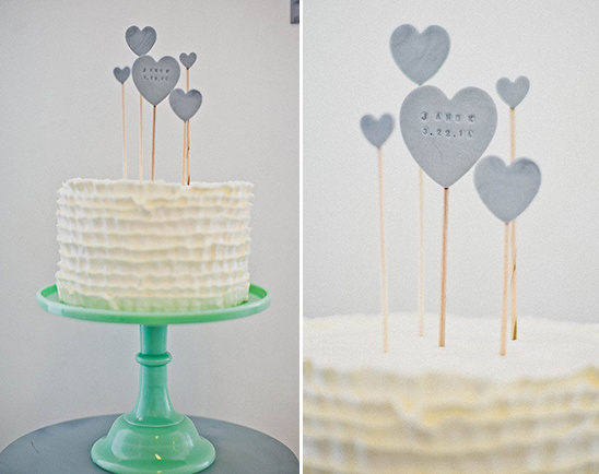 custom cake heart cake topper
