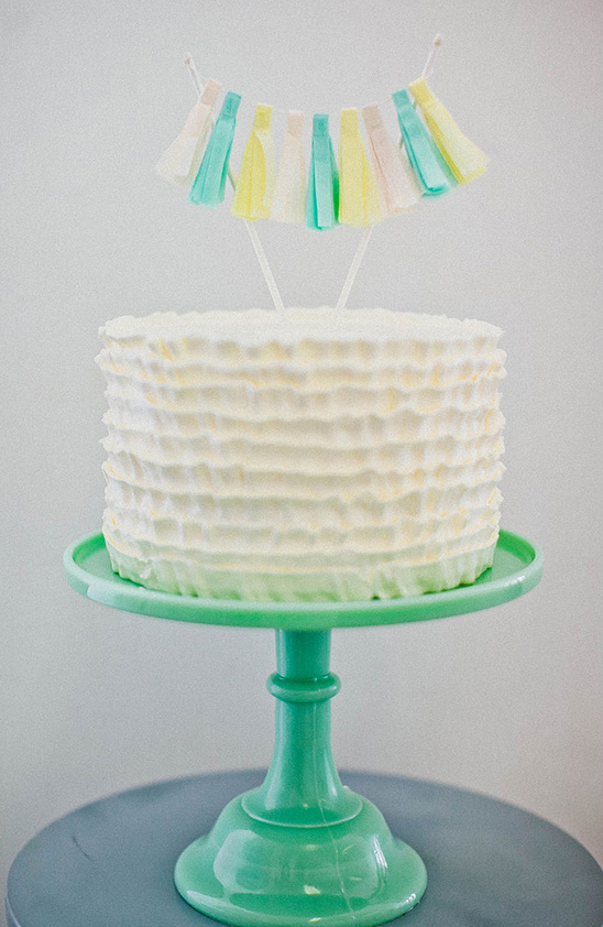 mint cake stand whimsical cake topper
