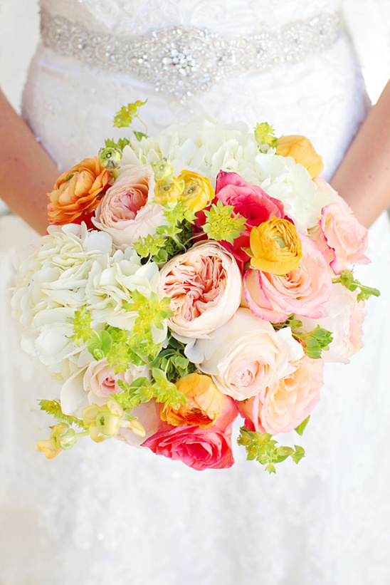 Pink And Red Wedding Bouquet Peach Yellow