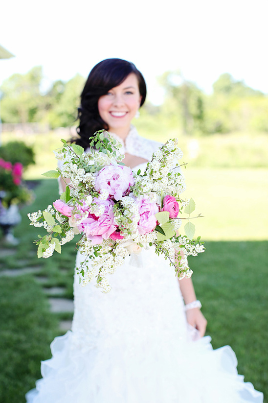 pink and white bouquet