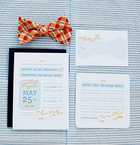 whimsical wedding invite by Chips + Salsa Design Studio