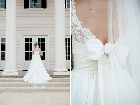 bow wedding dress by Watters