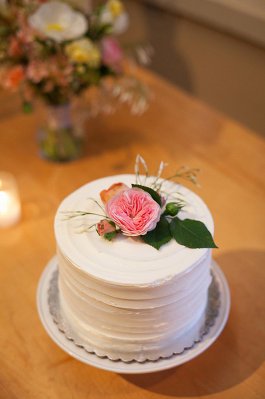 small pretty wedding cake from Sweetie Pies