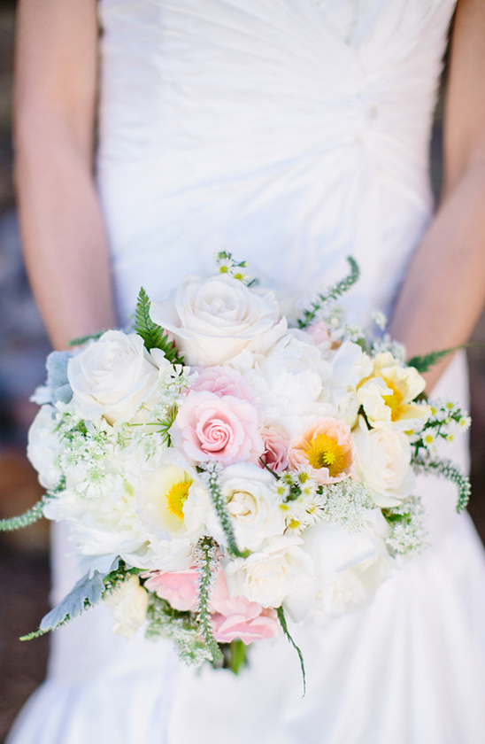 white and pink bouquet by Petal and Bean