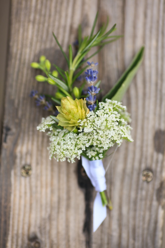 Hops and Lavender Boutonniere
