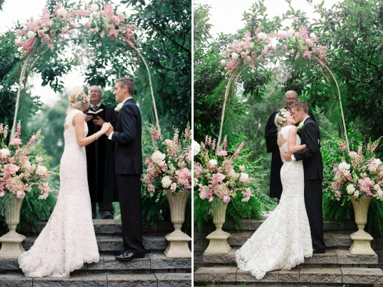 Mint Color Outdoor Ceremony Decorations: Gold And Mint Wedding Ideas