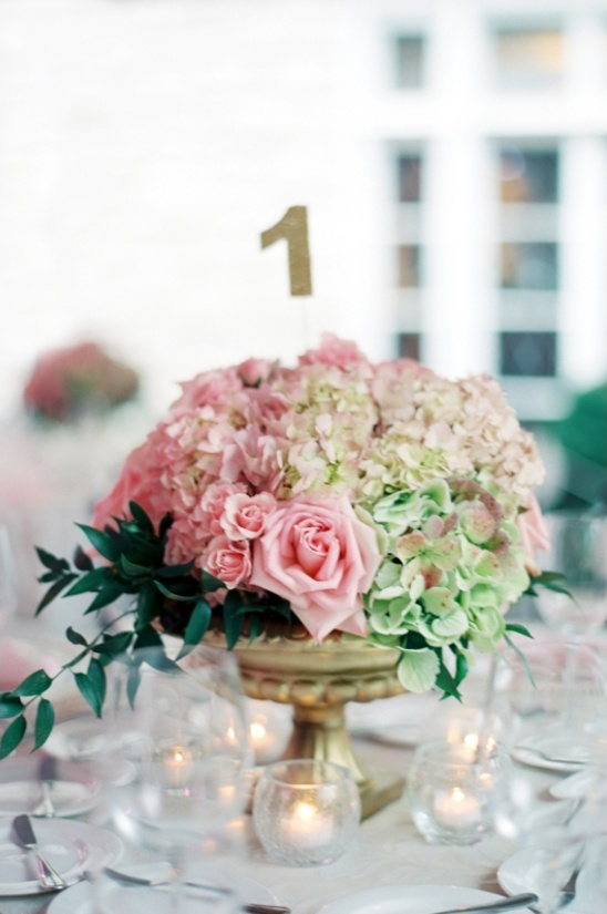 pink and green florals