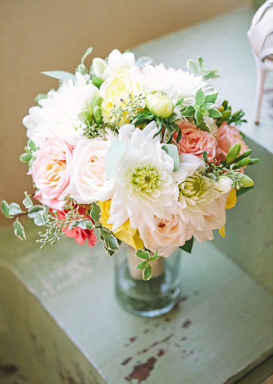 spring wedding bouquet by Elegant Details