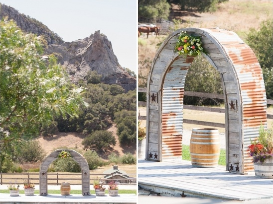 rustic ceremony arch ideas