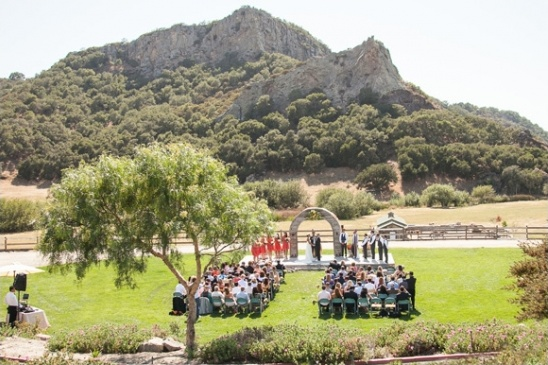 outdoor wedding ceremony at Holland Ranch