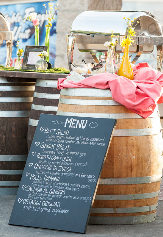 chalkboard wedding menu sign ideas