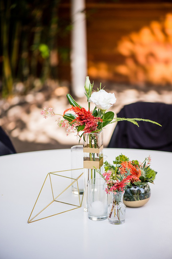 geometric foral centerpieces