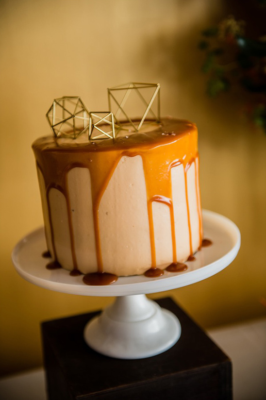 geometric caramel cake by The Scootabaker