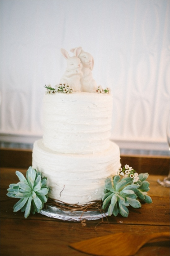 white buttercream wedding cake by The Garden Market & Bakery