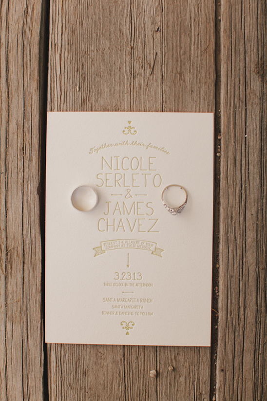 gold and cream wedding invites by Urbanic Paper Boutique