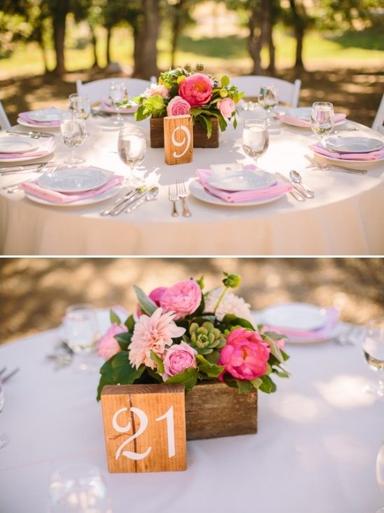 wood table number ideas