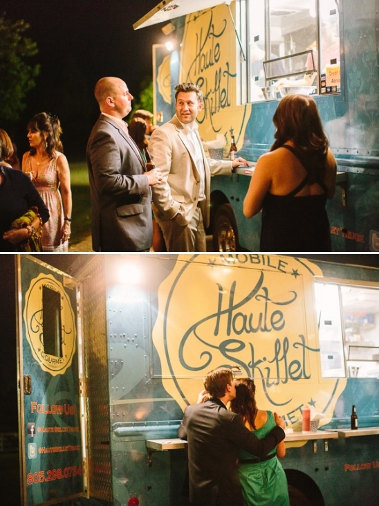 Haute Skillet food truck at wedding