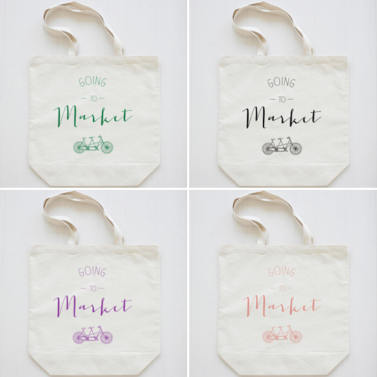 going to market grocery tote from the wedding chicks