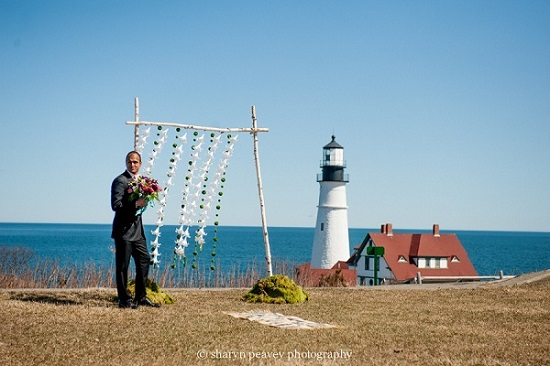 Portland Headlight Maine marriage proposal