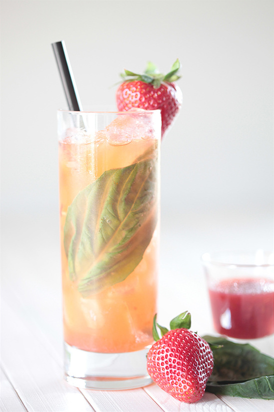 Cachaca strawberry cocktail