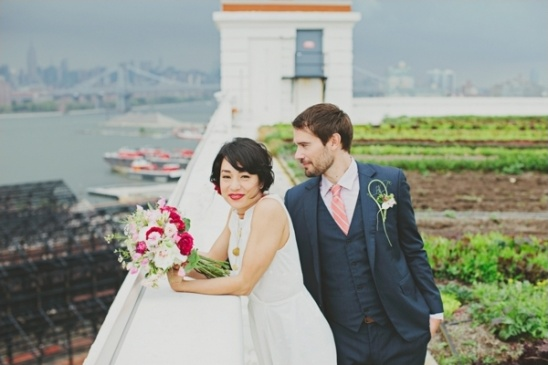 garden rooftop wedding