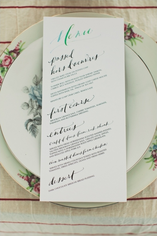 hand drawn wedding menu by paperfinger