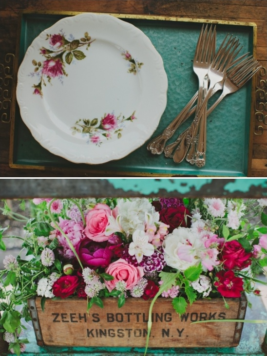 rustic vintage cake table ideas