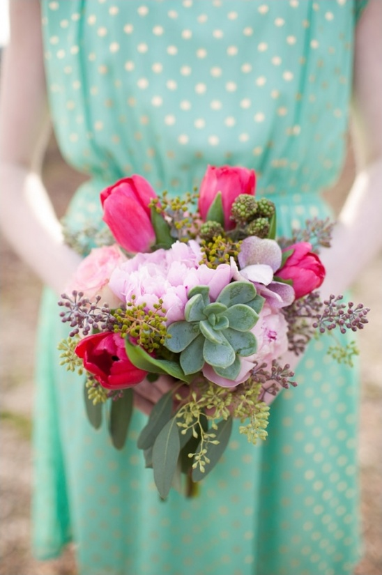 pink and succulent bouquet by Amy Lynne Originals