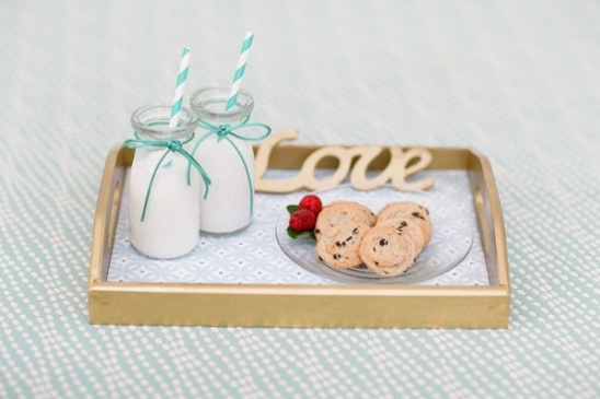 milk and cookies for wedding snack