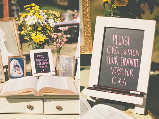 bible guestbook ideas