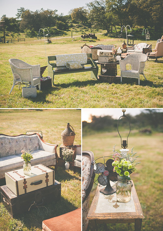 rustic vintage outdoor seating area