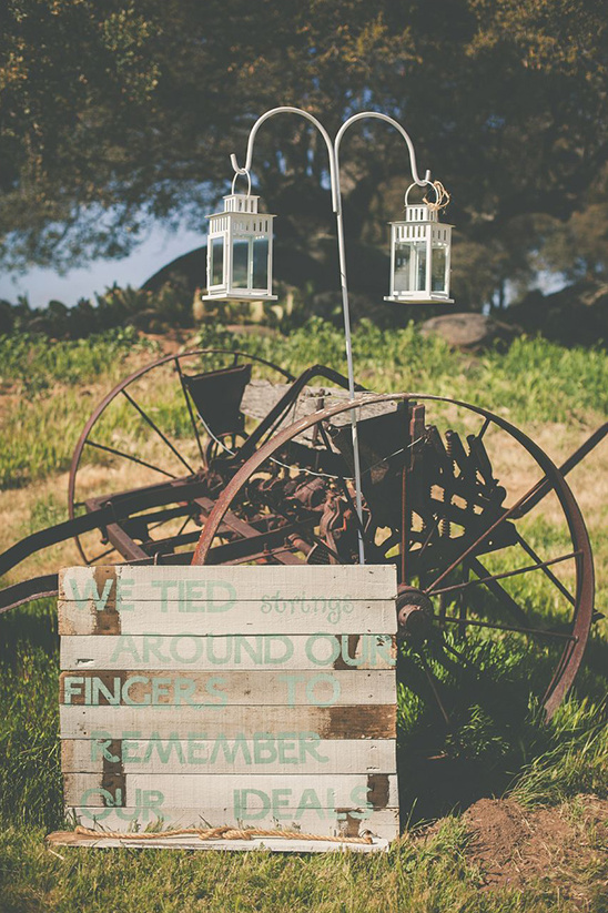 cute rustic wedding sign