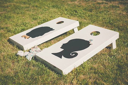 silhouette corn hole toss