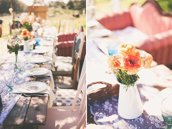 fun rustic outdoor reception