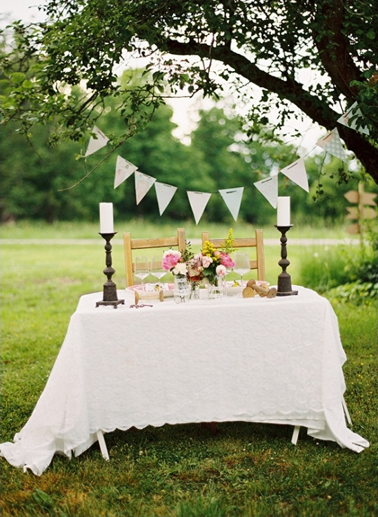 vintage wedding table decor ideas
