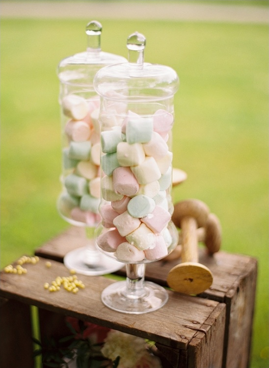 colorful marshmallow wedding desserts