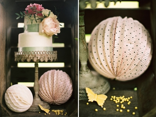 vintage cake display ideas