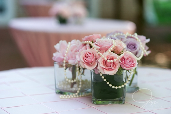 pearl cocktail table centerpiece decor by statuesque events floral design washington dc virginia maryland