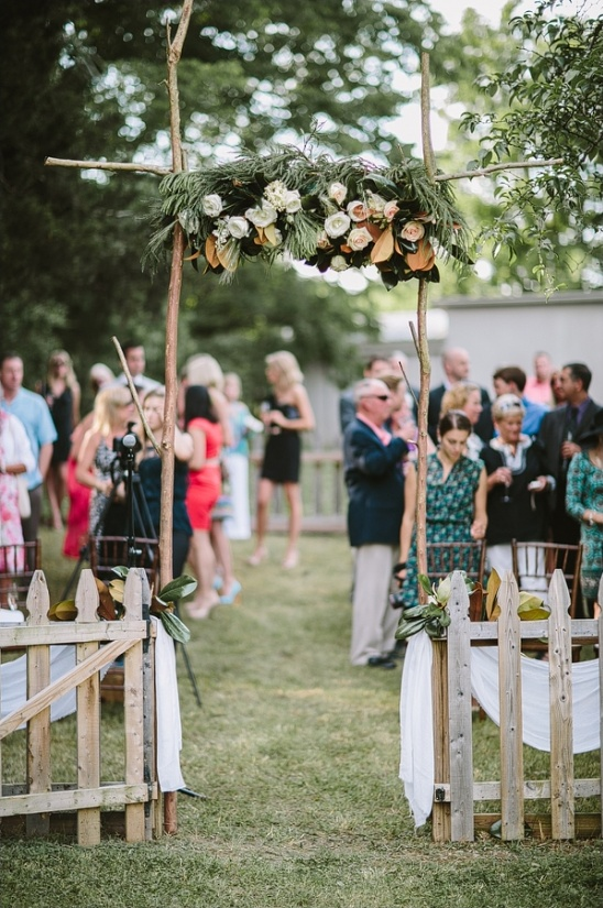simple rustic ceremony arch ideas