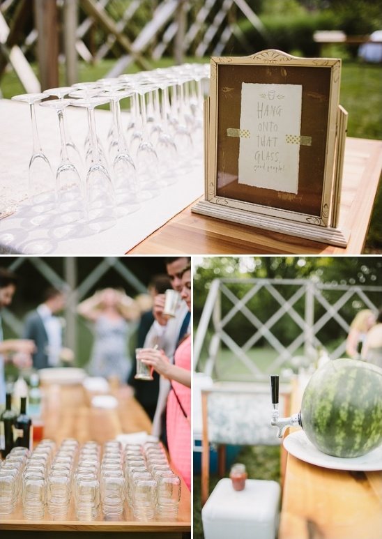 outdoor drink station ideas