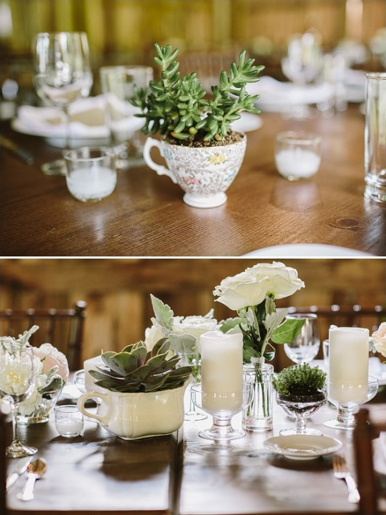 mugs and teacups as vases