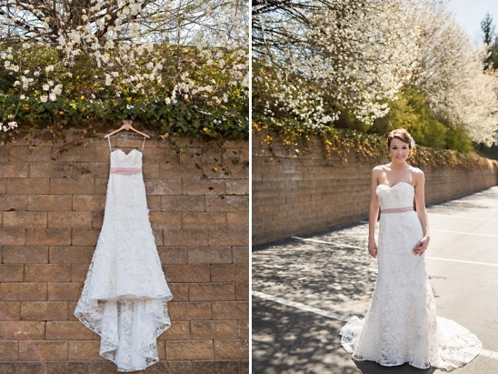 lace wedding gown by oleg cassini