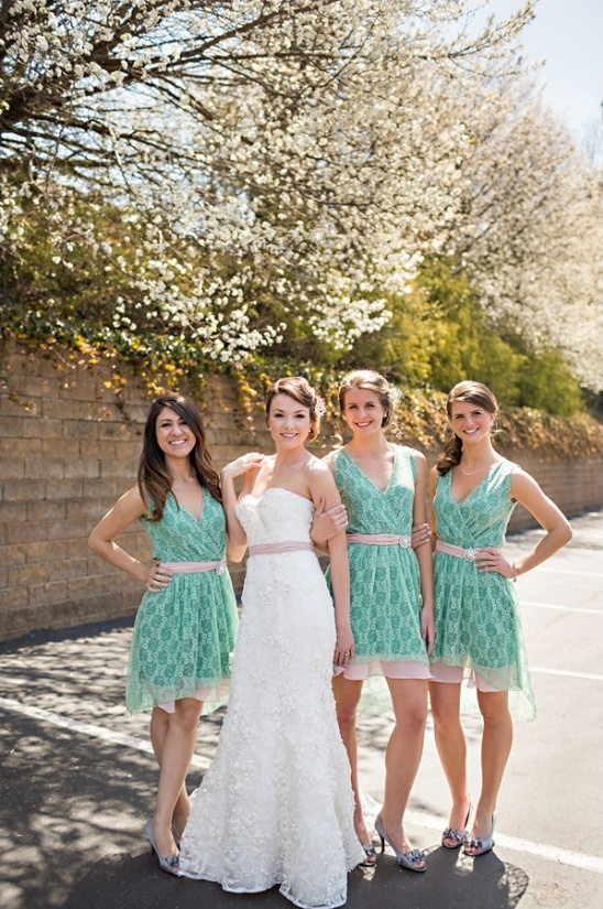Vintage Pink and Mint Wedding