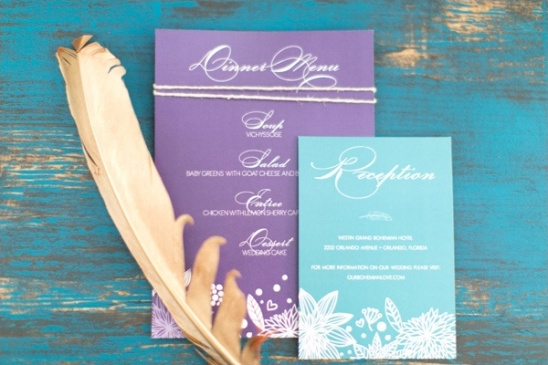boho chic stationery